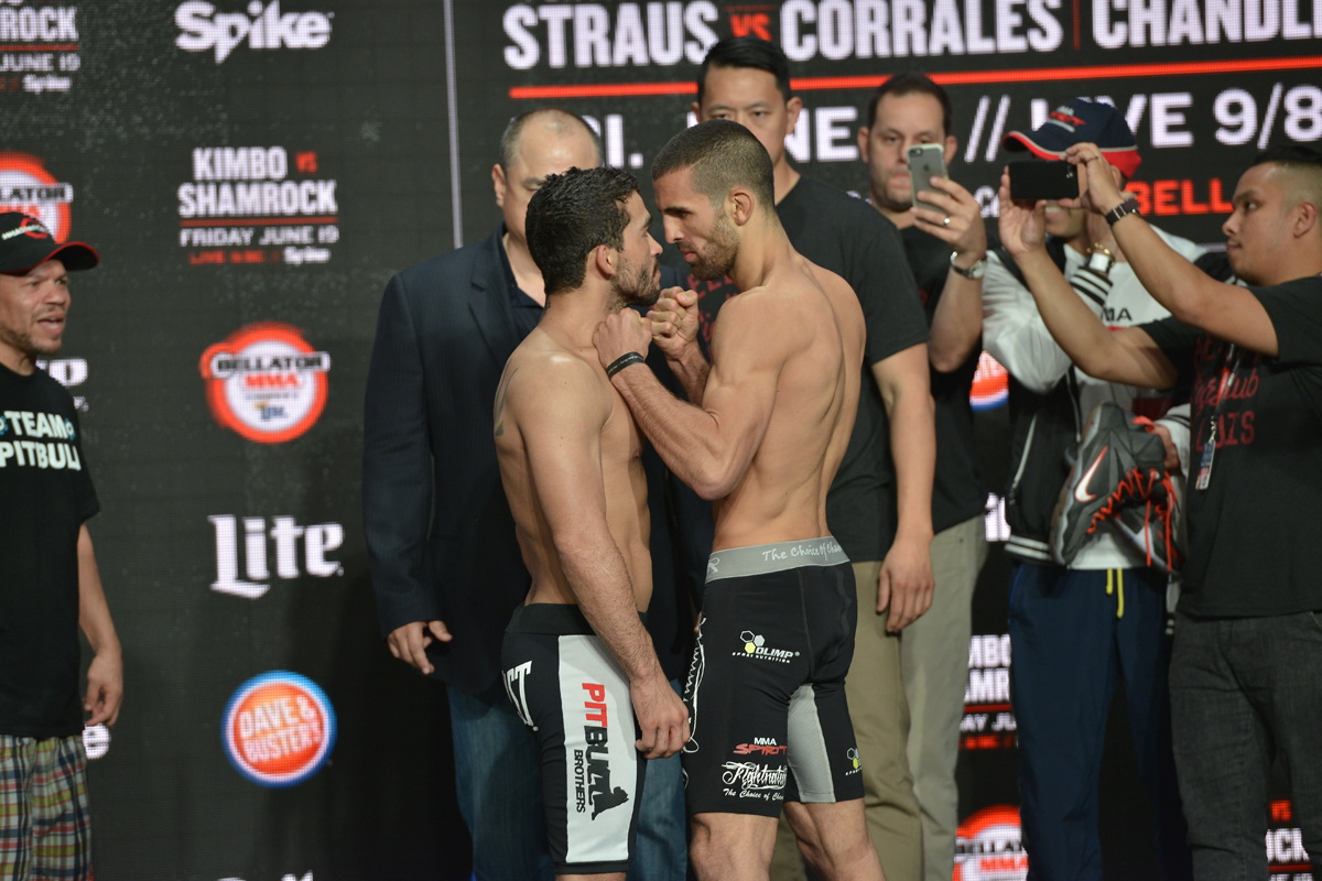 "Bellator Featherweight Title Fight: Champ Patricio ""Pitbull"" Freire (144.9) vs. Daniel Weichel (144.5)"