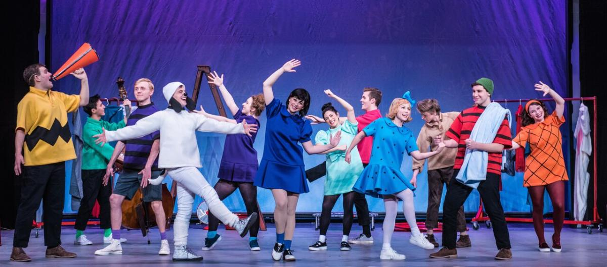 The Company of the National Tour of A Charlie Brown Christmas Live on Stage. Photo Credit: Chad David Kraus photography