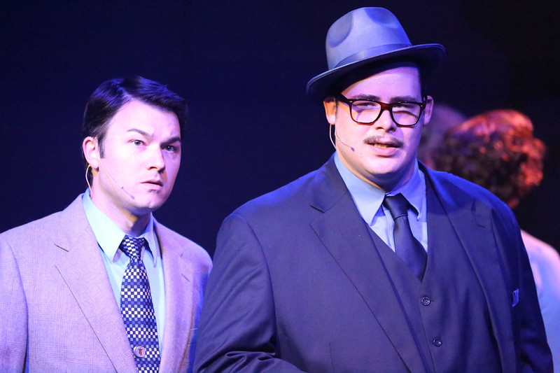 Matt Pentecost and Zachary Allen Farmer in New Line Theatre's SWEET SMELL OF SUCCESS, through June 24. Photo Credit: Jill Ritter Lindberg