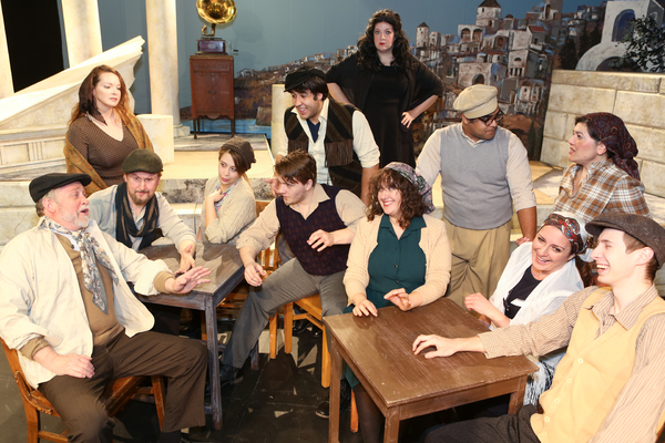 The cast of New Line Theatre's ZORBA. Photo Credit: Jill Ritter Lindberg