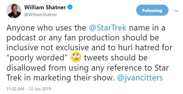 Set Phasers to Fail: Podcaster Redshirts after Shatner Death Twish