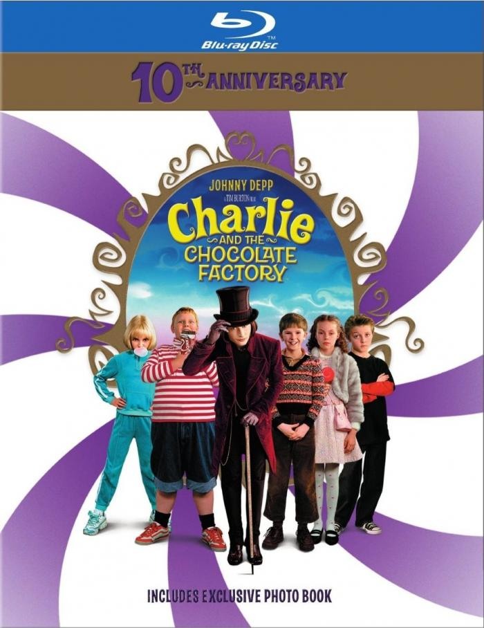 Tim Burton Johnny Depp Charlie and the Chocolate Factory Tenth Anniversary Blu-ray