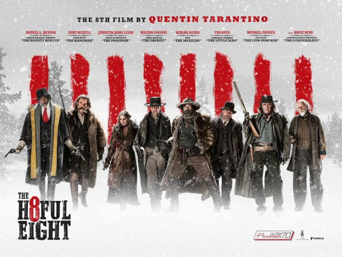 THE HATEFUL EIGHT opens 12//25/15 in 70mm, 12/31/15 everywhere.