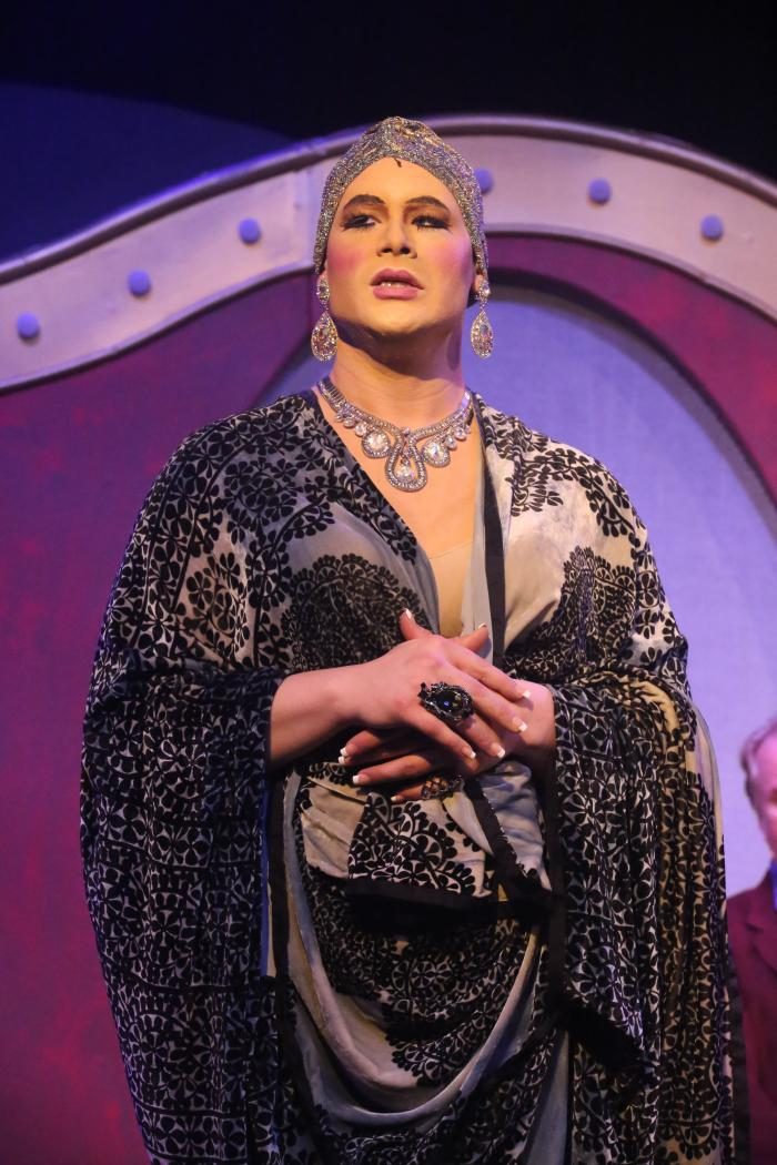 Zachary Allen Farmer as Albin/Zaza, in LA CAGE AUX FOLLES, New Line Theatre, 2019. Photo credit: Jill Ritter Lindberg.