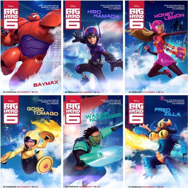 Big Hero 6 starts 11/7/2014 -- great fun for all ages!