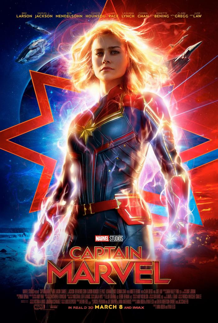 Captain Marvel opens in the U.S. on March 8, 2019.
