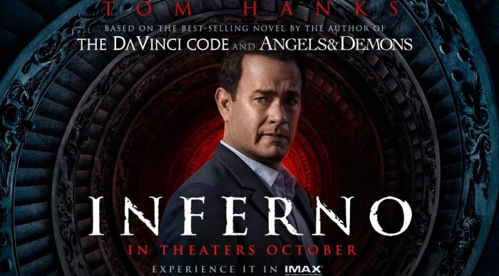 Inferno starring Tom Hanks, Directed by Ron Howard