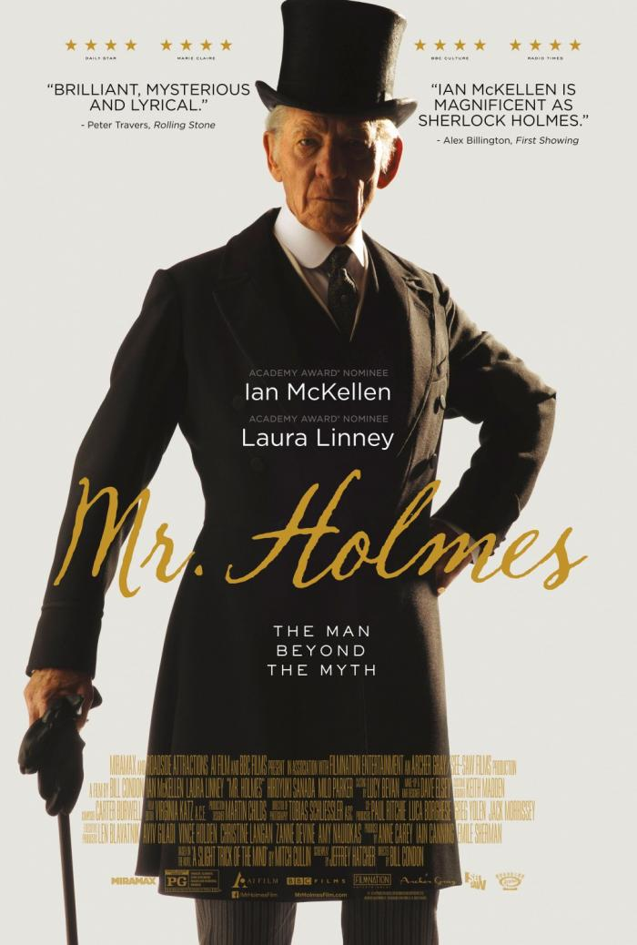Sir Ian McKellan in MR. HOLMES. Opens 7/17/15.