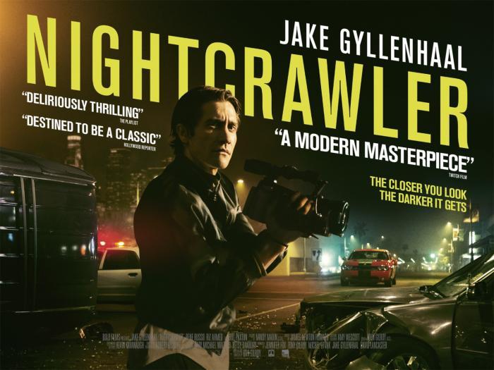 Jake Gyllenhaal and Rene Russo in Nightcrawler, opening 10/31/14