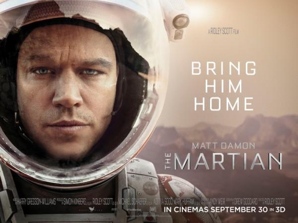 Matt Damon blasts off in THE MARTIAN on 10-02-15.