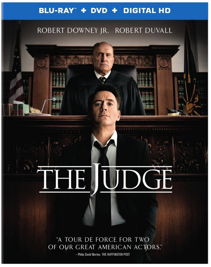 The Judge starring Robert Downey Jr and Robert Duvall, now on Blu-ray and DVD.