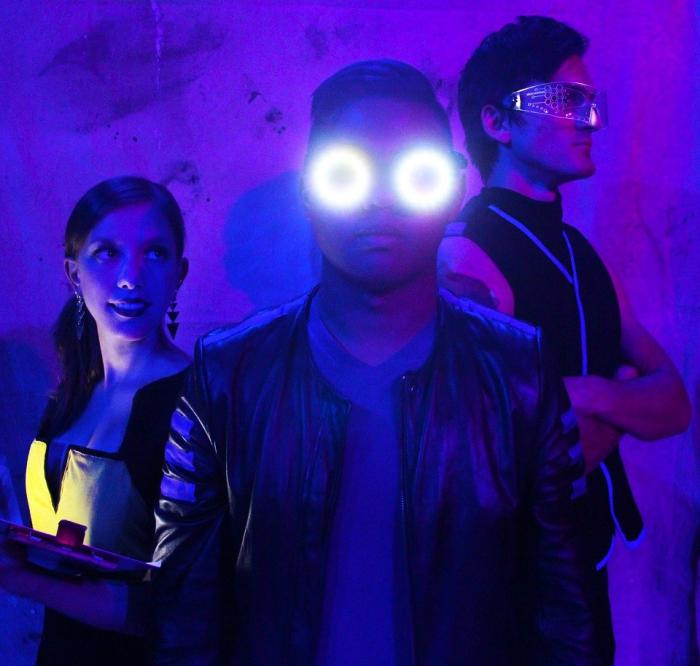 Eileen Engle, Kevin Corpuz and Tristan Davis in Stray Dog Theatre's production of THE WHO'S TOMMY, Oct 10-26, 2019. Photo Credit: Stray Dog Theatre