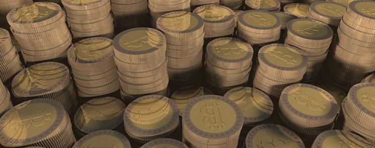 Brownian Bitcoin Pile