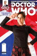 Jenna Coleman as Clara Oswald on the cover of Titan Comics Doctor Who: The Twelfth Doctor #1