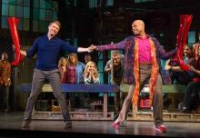 Steven Booth and Darius Harper in Kinky Boots, through 4/5/15 at the Fox. Photo credit: Matthew Murphy