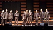 Straight No Chaser performing at the Fox Theatre, St. Louis, 11/27/15. Photo Credit: Jeff Ritter