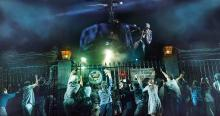 """The Helicopter Scene during """"Kim's Nightmare"""" in MISS SAIGON, Apr 23 - May 5, 2019 at the Fox Theatre, St .Louis. Photo Credit: Matthew Murphy and Johan Persson"""