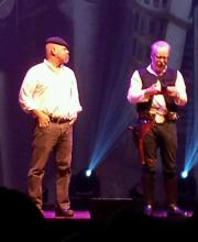 "Jamie Hyneman and Adam ""Han Solo"" Savage brought the Mythbusters Tour to St. Louis on 4/18/15. Photo by Jeff Ritter"