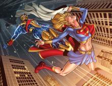 Supergirl vs Reactron by Jamal Yaseem Igle
