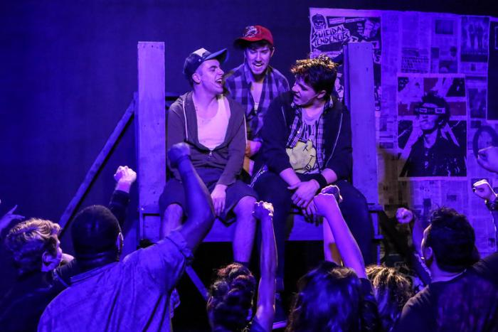 New Line Theatre's production of AMERICAN IDIOT, Mar 3 - 26, 2016. Photo Credit: Jill Ritter Lindberg