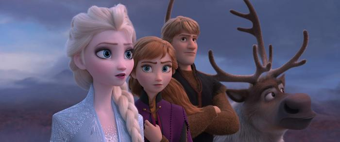 Elsa, Anna, Kristoff and Sven Go Into the Unknown for FROZEN II