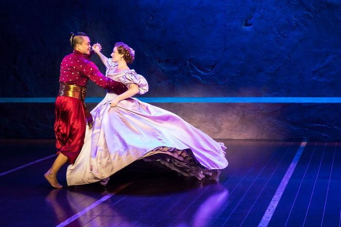 """Jose Llana and Laura Michelle Kelly in Rodgers and Hammerstein's """"The King and I.""""  Photo Credit: Matthew Murphy"""