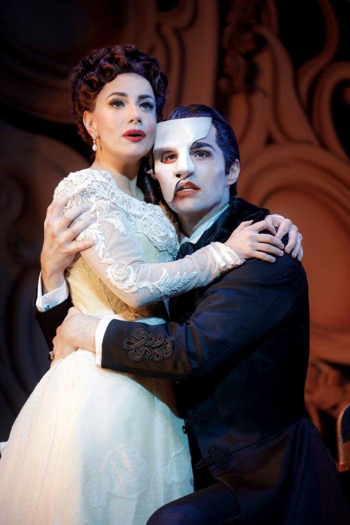 "Meghan Picerno (""Christine Daaé"") and Bronson Norris Murphy (""The Phantom"") star in Love Never Dies. Photo: Joan Marcus."