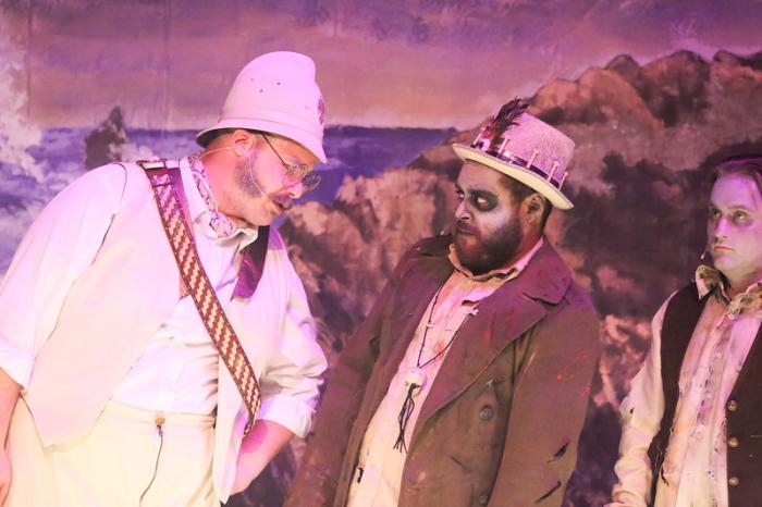 """Zachary Allen Farmer, Dominic Dowdy-Windsor and Sean Michael in New Line Theatre's """"Zombies of Penzance"""" -- Photo Credit Jill Ritter Lindberg"""