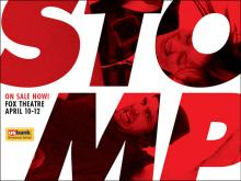 Stomp plays the Fox Theatre in St. Louis April 10-12, 2015.