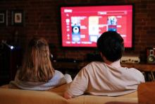 Students Watching Television